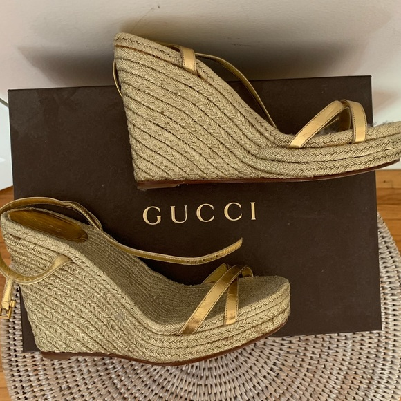 Gucci Shoes | Gucci Wedges | Poshmark